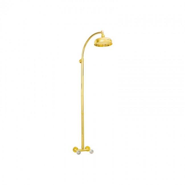 Душ колона за баня в златен месинг CY443789DO
