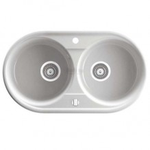 Двойна гранитна кухненска мивка Bizzy DRG45/78W
