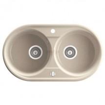 Двойна гранитна кухненска мивка Bizzy DRG45/78S
