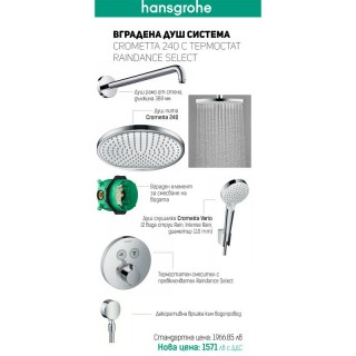 Промо пакет с термостат за вграждане Crometta 240