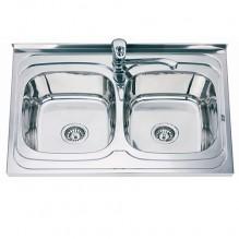 Двойна мивка алпака ICK SS8060P