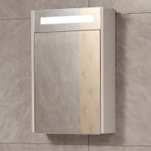 Oгледален горен PVC шкаф за баня с Led осветление