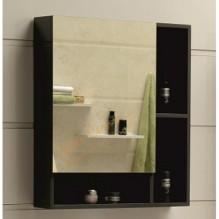 Горен огледален PVC шкаф за баня Gray