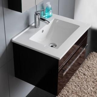 Долен PVC шкаф за баня ICP 6147 BLACK 1/2