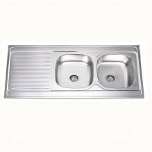 Кухненска мивка алпака - двойна БОРДОВА