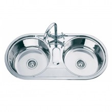 Двойна кухненска мивка алпака ICK 10048 SS