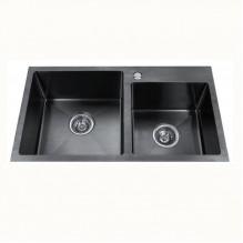 Двойна кухненска мивка алпака ICK 7822