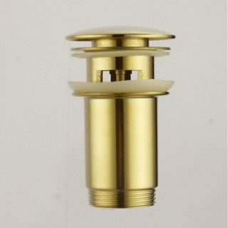 Клик сифон с преливник в цвят злато