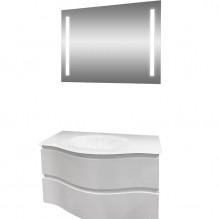 Комплект PVC шкаф за баня с умивалник и LED огледало Барселона