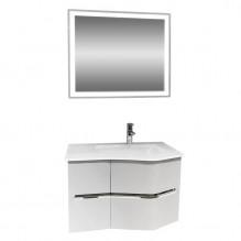 Комплект долен шкаф с умивалник и горен шкаф с LED огледало Севиля