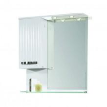 Горен PVC шкаф за баня с LED огледало Лариса