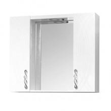 Горен PVC шкаф за баня с LED огледало Моника