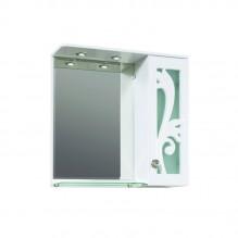 Горен PVC шкаф за баня с LED огледало Диби
