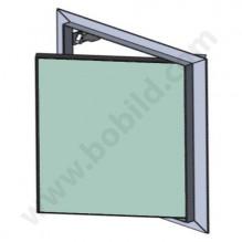 Ревизионна алуминиева клапа с водоустойчив гипскартон 12.5 мм / BB w=h