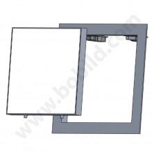 Ревизионна алуминиева клапа (ревизия) със стъклена вратичка 200/200 мм - BB Lux w=h pin