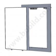 Видима вертикална ревизионна алуминиева клапа (ревизия) 150/200 mm - BB Lux w<h pin