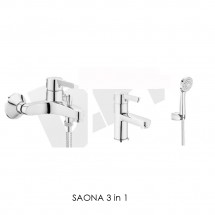 SAONA 3 in 1 - Промо пакет смесители за баня