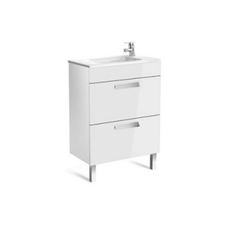 Debba Compact шкаф с умивалник 600 мм, 2 чекмеджета, бял