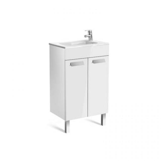 Debba Compact шкаф с умивалник 500 мм, 2 вратички, бял