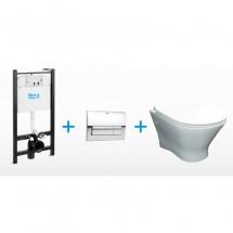 Окачена тоалетна WHWC NEXO + ACTIVE + slim soft close seat + cover