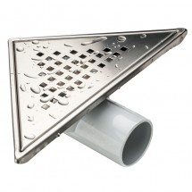 Триъгълен сифон за баня - инокс
