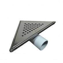 Триъгълен сифон за баня – черен