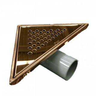 Триъгълен сифон за баня – бронз