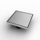 Квадратен сифон, 20х20см със страничен изход Ø50
