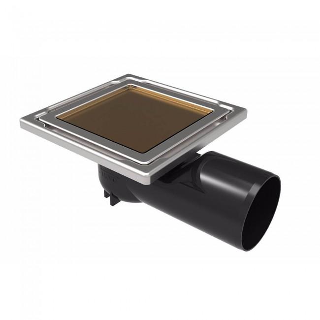 Подов сифон DS-11-CD / бежово стъкло