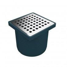 Регулируем сифон 10х10 см, долен изход Ø100, рамка от полипропилен