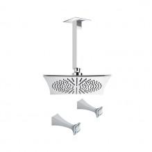 Вграден душ с пита от тавана с кристали Opera Crystal 60587/B