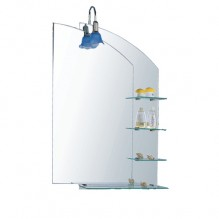Огледало за баня с осветление и етажерки ZI521