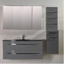 Комплект PVC шкаф за баня ICP 105360 Сив