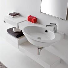 Керамичен плот за мивка за баня Wish 2015