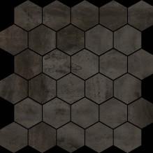 HEXAGONO ACERO BLACK - испански плочки за баня