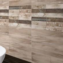 Arco - серия плочки за баня с имитация на дърво