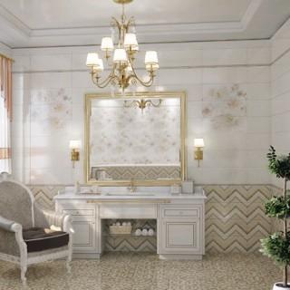 Серия Lollipop Zigzag Antracid модерни плочки за баня