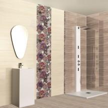 Серия Pansy Mora Conjunto - колекция испански плочки за баня с цветя