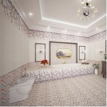Серия Lollipop Zigzag Pink модерни плочки за баня