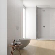 AURA - серия бели плочки за баня