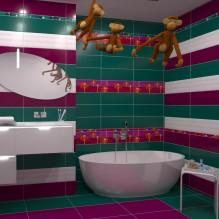 Arinsal серия - испански плочки за баня / колекции в лилаво и зелено с цветни орнаменти