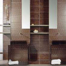 Corten oxido серия- испански плочки за баня в бяло и кафяво с декорни елементи