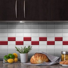 BISELADO MONOCOLOR 7.5X15 - серия плочки за кухня