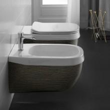 Конзолна тоалетна Abito Black Righe Oro 56