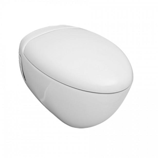 Конзолна тоалетна чиния Orca с вградено биде и бавнопадащ капак