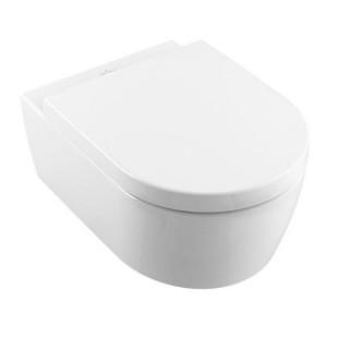 Конзолна  тоалетна чиния с капак със забавено падане (5656HR01 Direct Flush)