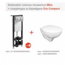 Структура Eco Compact и окачена тоалетна Mira