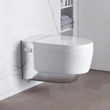 Geberit AquaClean Mera Classic - окачена тоалетна чиния, хром лъскав елемент