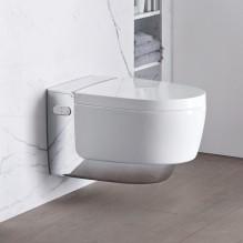 Geberit AquaClean Mera Comfort WC, окачена тоалетна чиния, хром лъскав елемент
