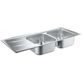 Кухненска мивка от неръждаема стомана с отцедник 31587SD0